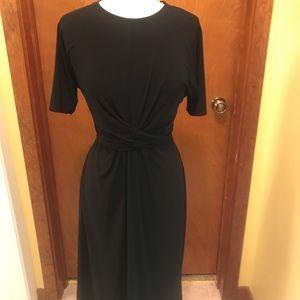 Topshop Twist Detail Black Knit Dress, 6